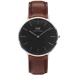 DANIEL WELLINGTON 40mm CLASSIC BLACK BRISTOL