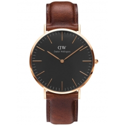 DANIEL WELLINGTON 40mm CLASSIC BLACK St. WAVES