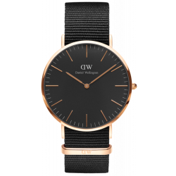 DANIEL WELLINGTON 36mm CLASSIC BLACK CORNWALL