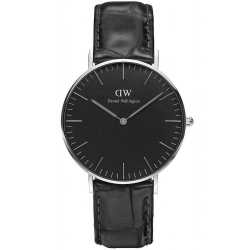 DANIEL WELLINGTON 36mm CLASSIC BLACK READING