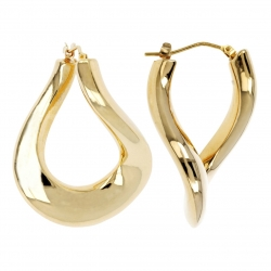 Pendientes Soave Oro -CURVILINEAR DANGLE HOOP-
