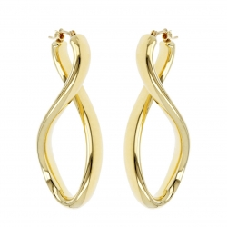 Pendientes Soave Oro -SINGLE TWIST HOOP-