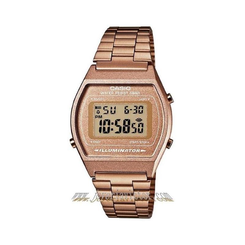 e0f1d7350267 Reloj Casio retro vintage dorado cobrizo Casio B640WC-5AEF