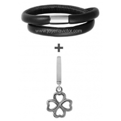 Pulsera ENDLESS DOBLE + FOURSOME CHARM