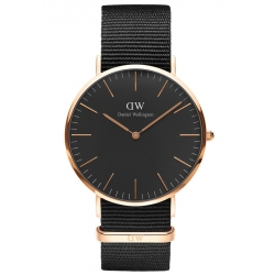 DANIEL WELLINGTON 40mm CLASSIC BLACK CORNWALL